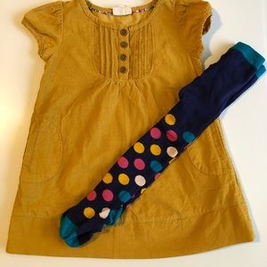 Toddler girl dress with matching tights.